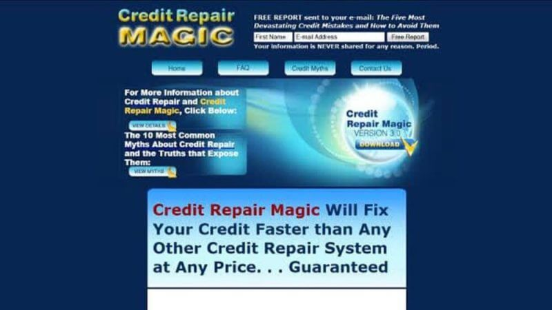 credit repair magic review screenshot