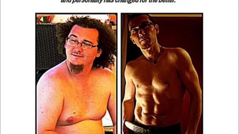 images of a man when fat and after losing weight