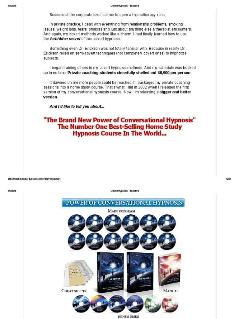 the power of converstional hypnosis review