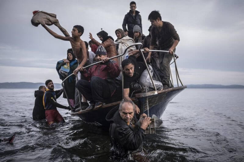 people in a boat