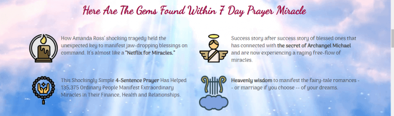 7 Day Prayer Miracle features