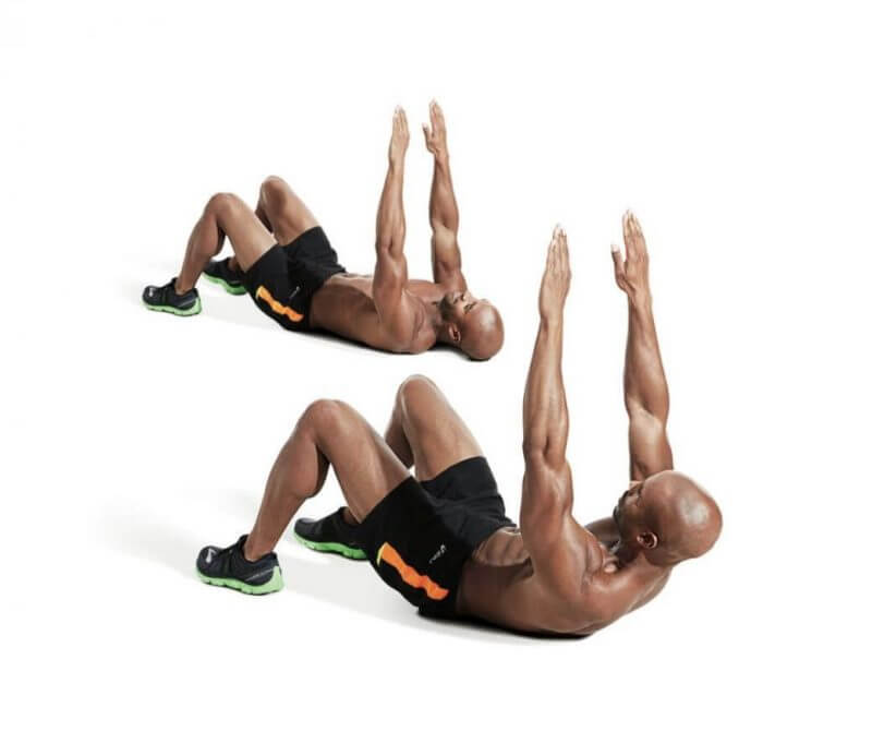 man doing abs work outs