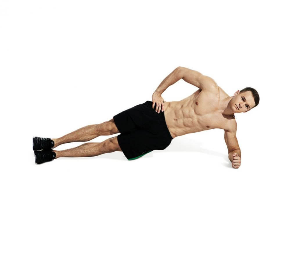 man doing abs workouts