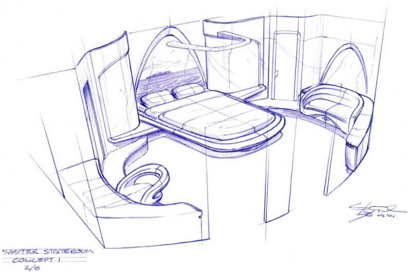 design of a boat interior