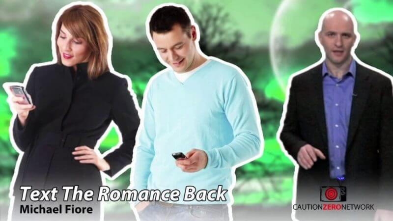 a woman and two men texting on thier phones and text romance back review