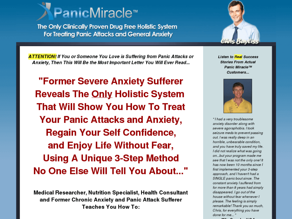 the panic miracle review