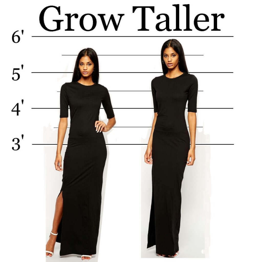 grow taller and two women in black dresses