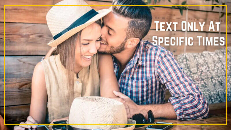 Text Only At Specific Times