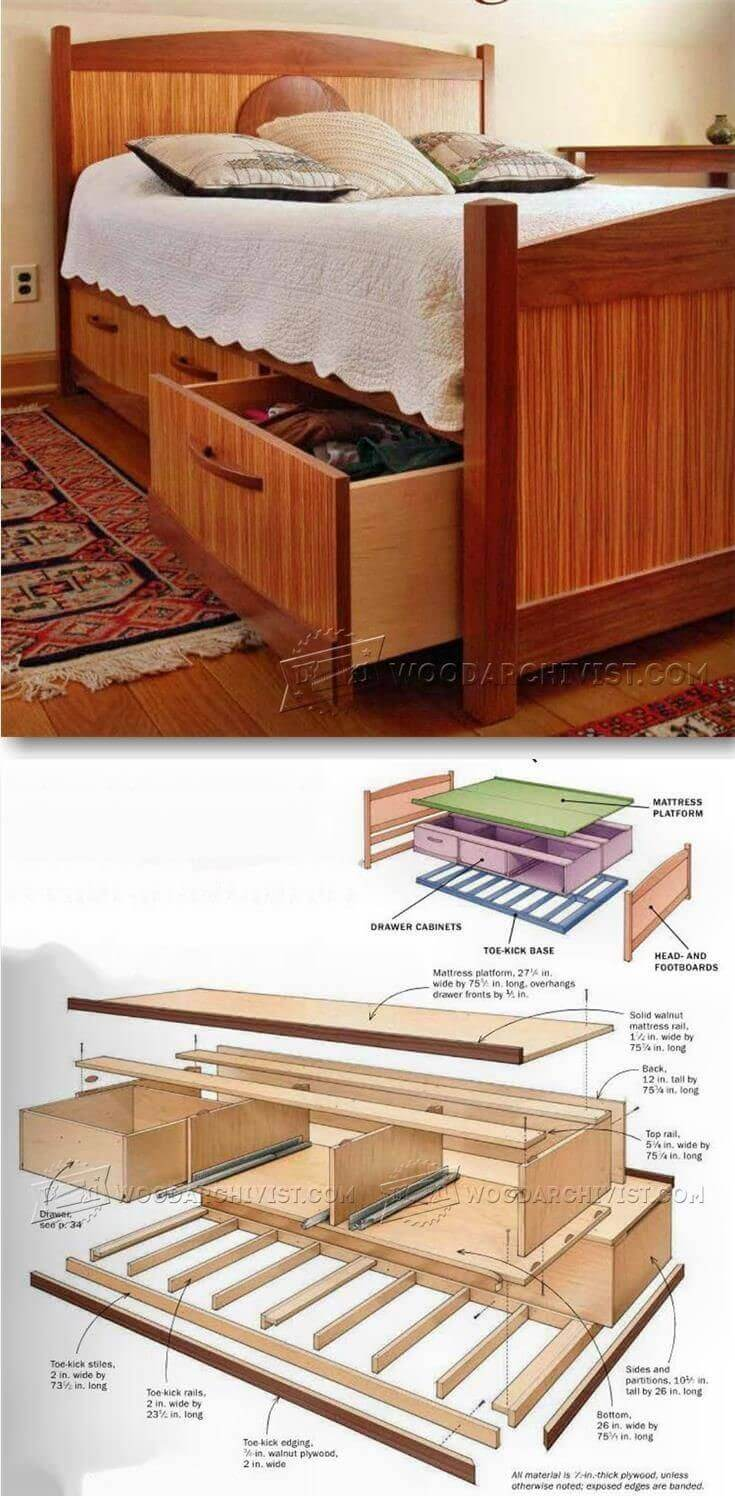 wooden bed plans