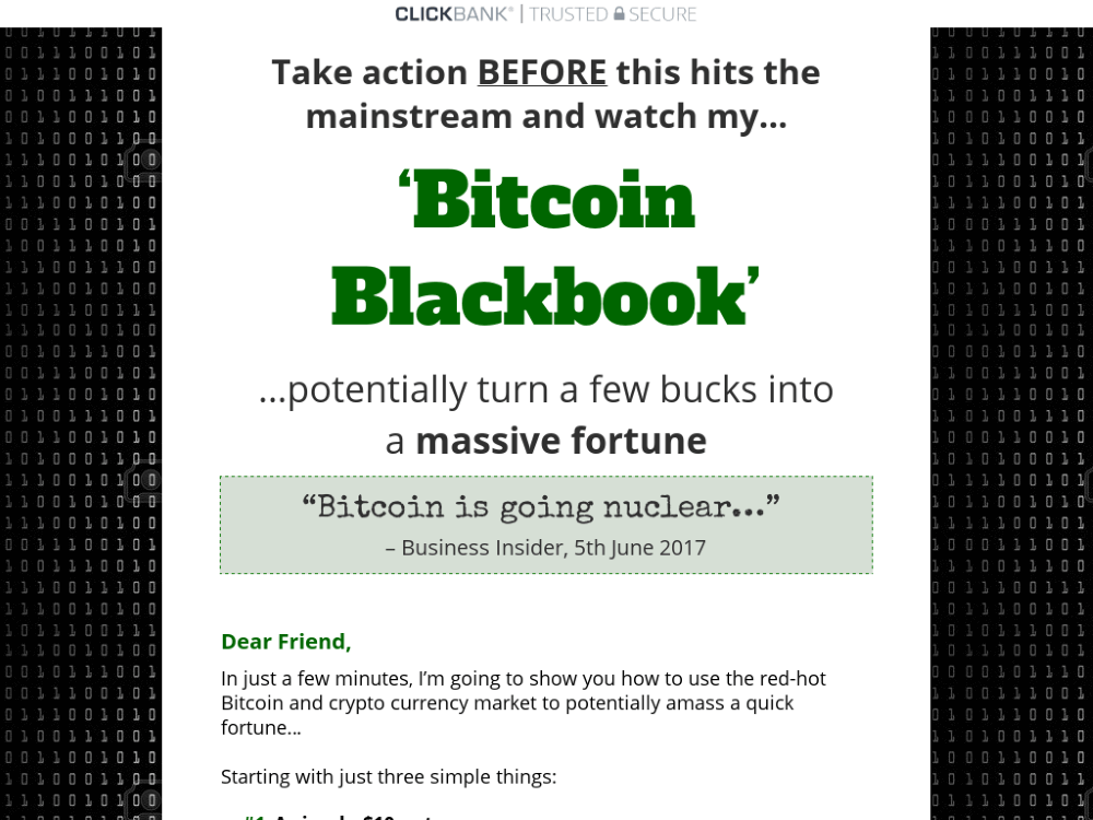 bitcoin blackbook review
