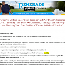 Renegade Mindset Techniques For Golf Review - Works or Just a SCAM?