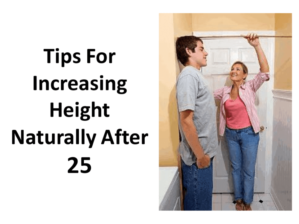 tips for increasing your height naturally after 25 and a man and woman