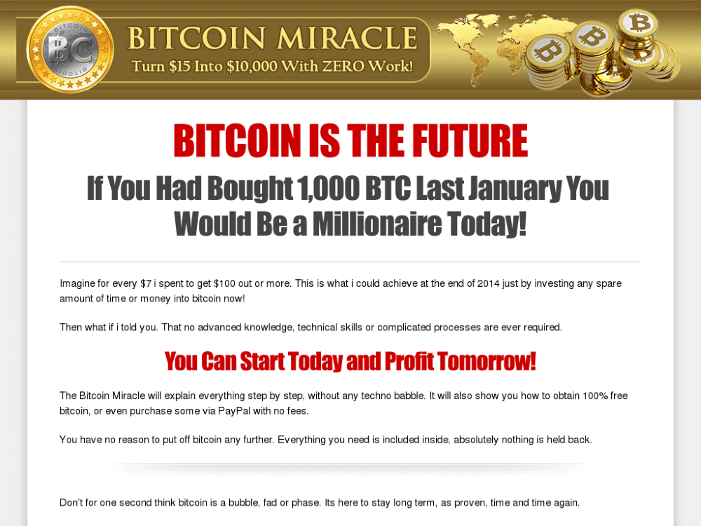 bitcoin miracle review
