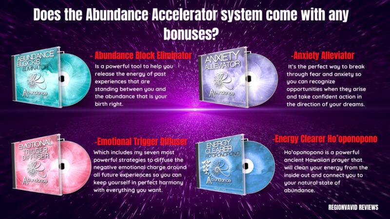 Abundance Accelerator Bonuses Disc