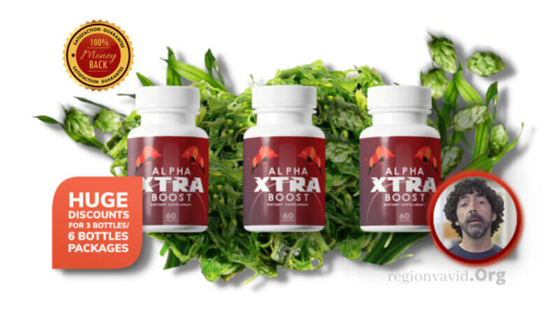 Alpha Xtra Boost Product and package.