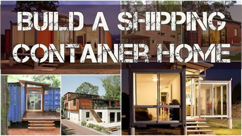 build a shipping container home container homes in the background