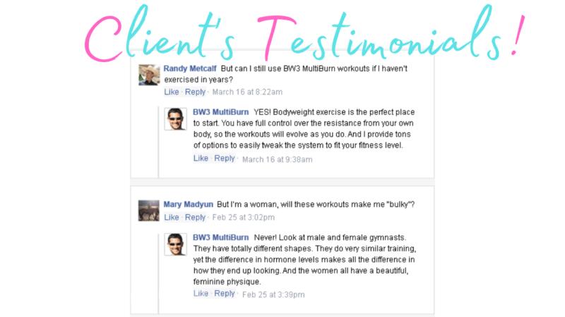 Bodyweight Burn Client Reviews