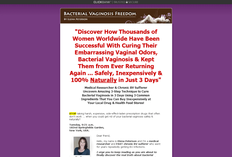 Bacterial Vaginosis Freedom Review