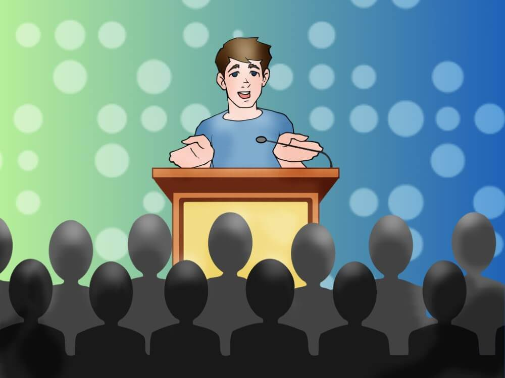 publick speaker adressing people