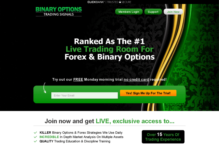 Binary signals trading room