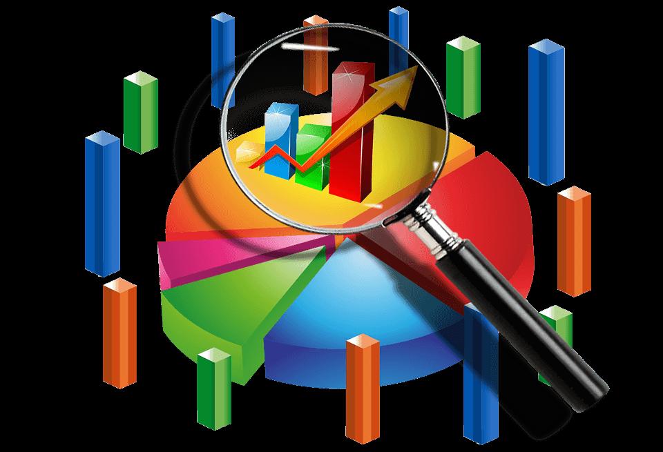 statistics bars of different colors