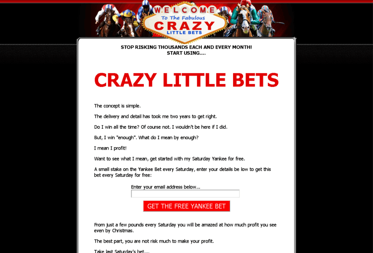 CRAZY LITTLE BETS Review