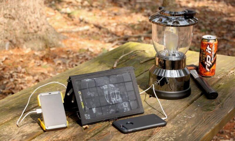 phone and camping materials