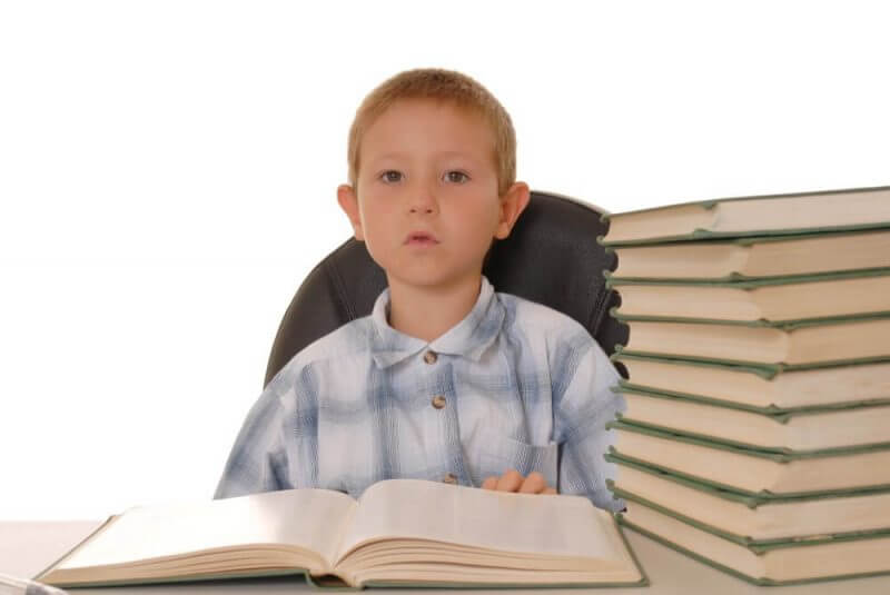 child and books