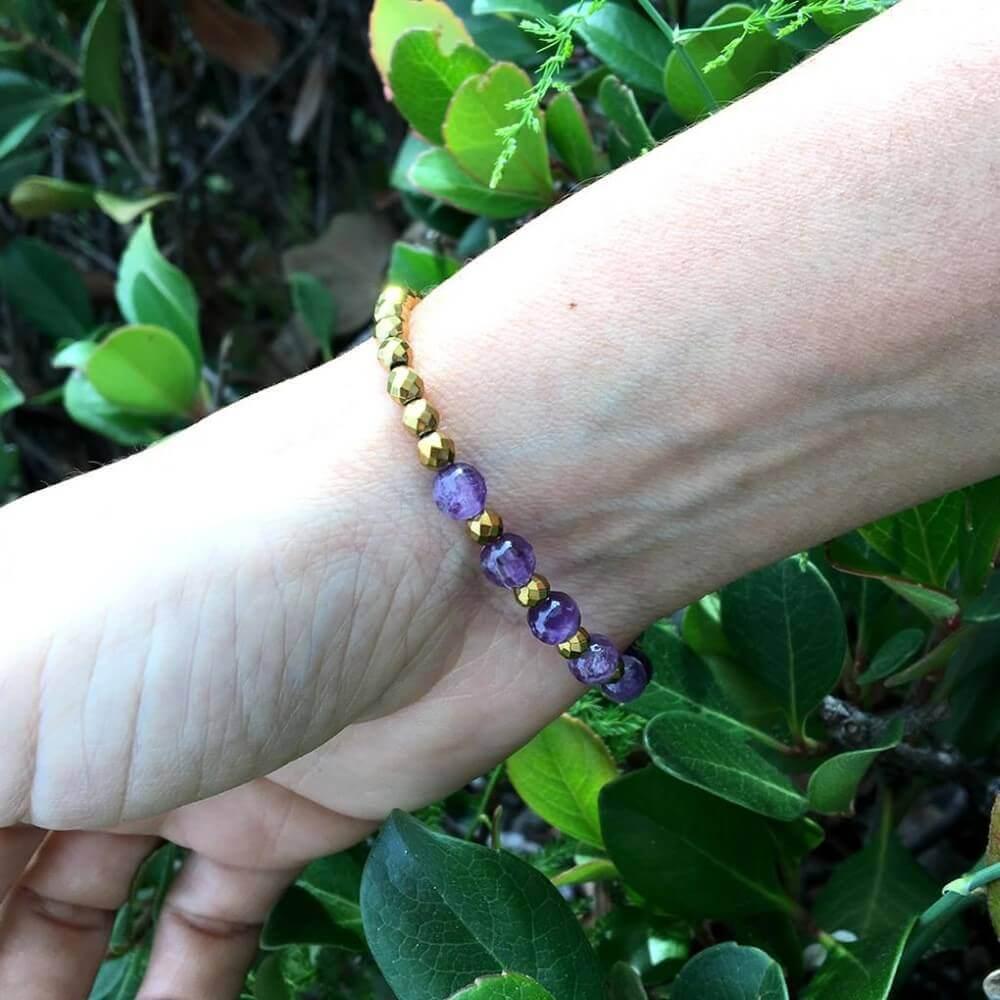 bracelet on a woman's hand