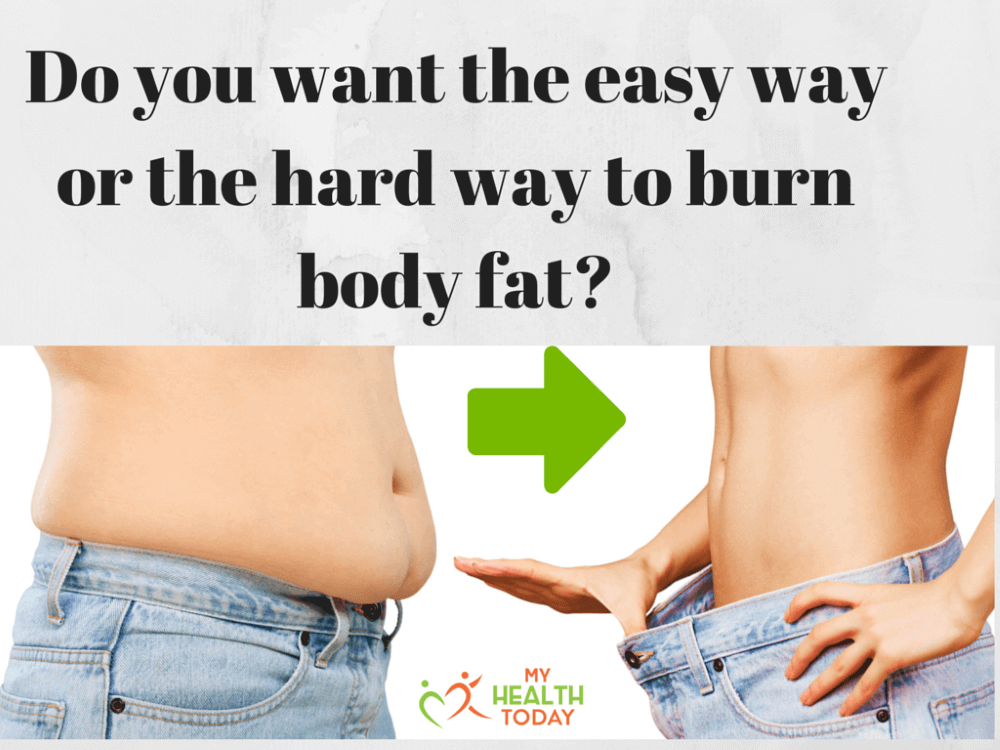 do you want the easy way or the hard way to burn body fat and a fat tummy in the background