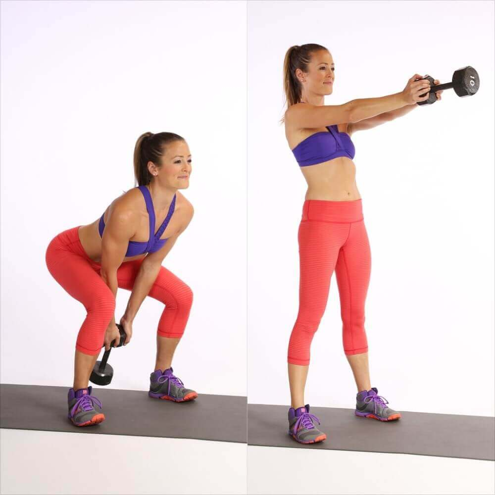 lady doing kettlebell