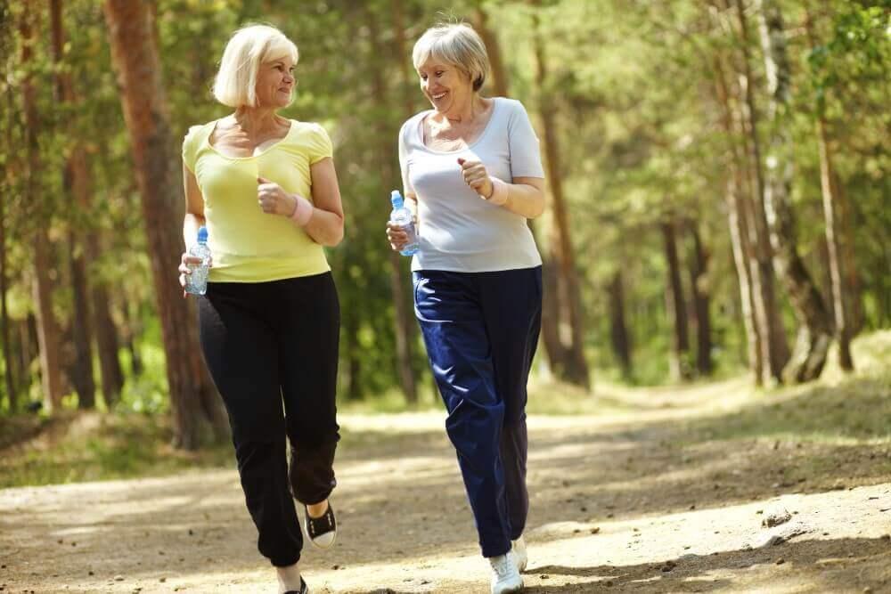 old women jogging