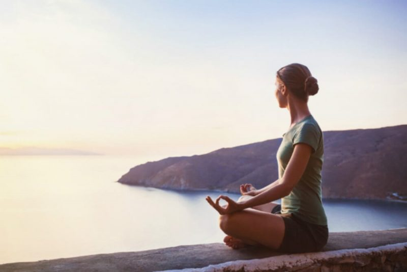 woman seated for meditation