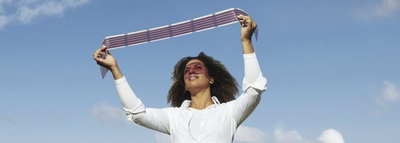 woman lifting flex solar
