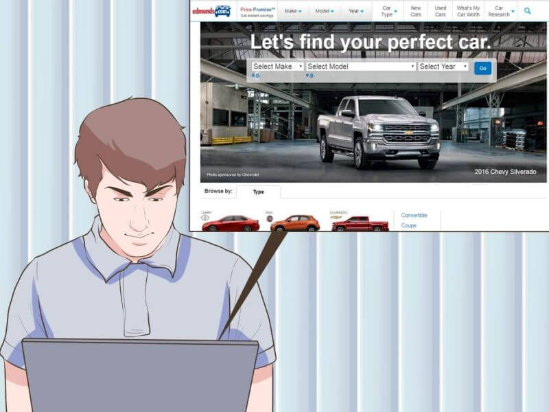 looking up information about vehicle online
