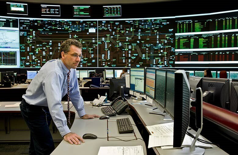 a man in a control room