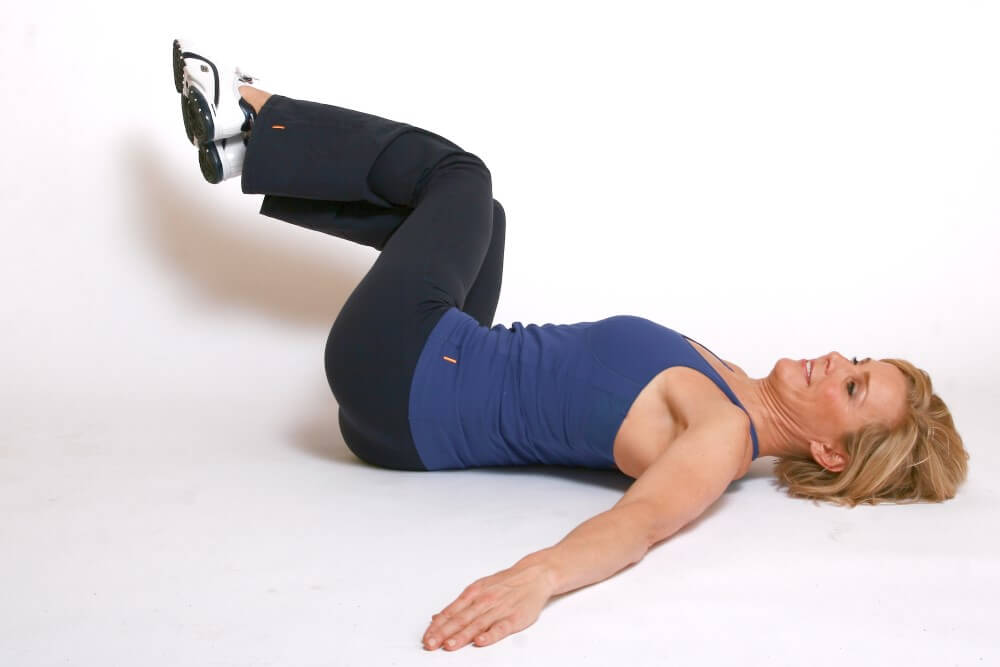 woman doing belly exercises