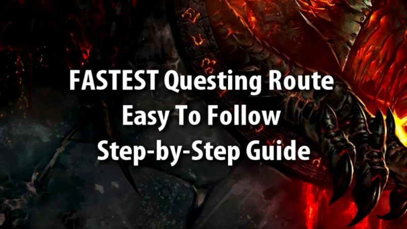 fastest questing route east to follow step by step guide