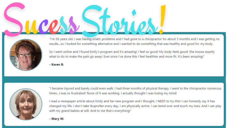Back To Life Success Stories