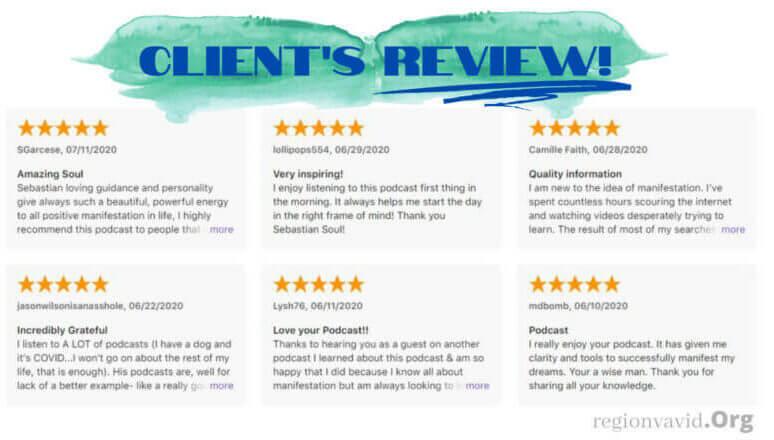 Money Manifestation Magnet Client's Reviews
