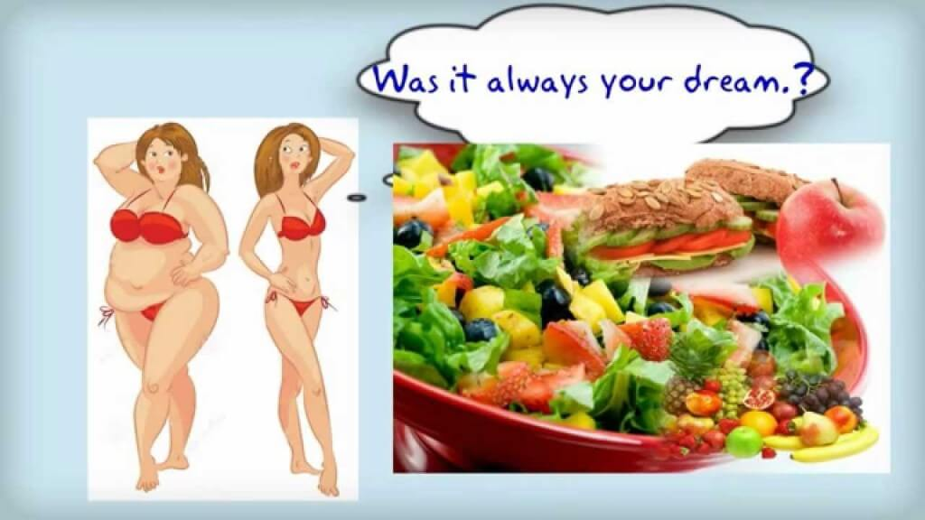woman body slim and a fat one, foods