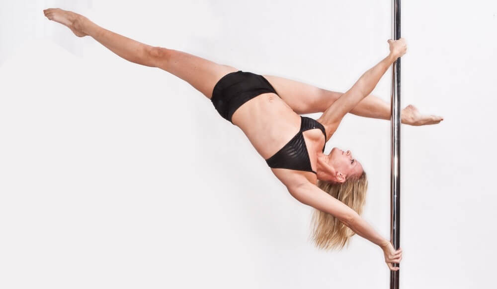 girl doing pole dance