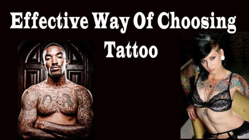 effective way of choosing tatoo and man and woman tatoo in the background