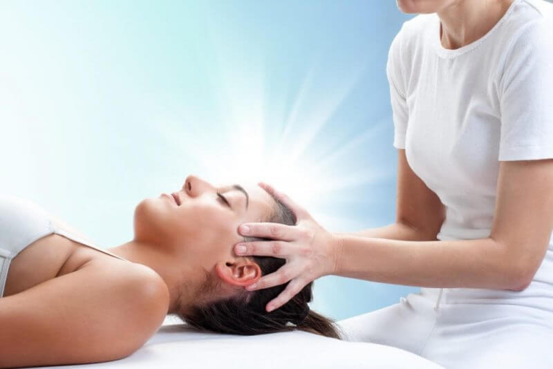 a woman receiving therapy
