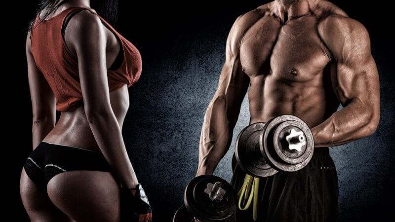musculine man with a woman