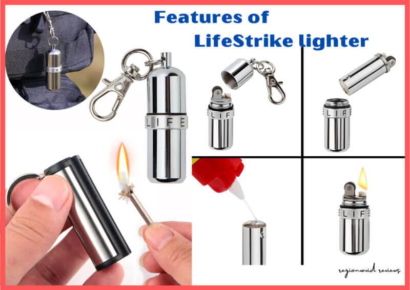 Lifestrike Waterproof Lighter Product Features