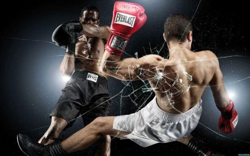 men boxing