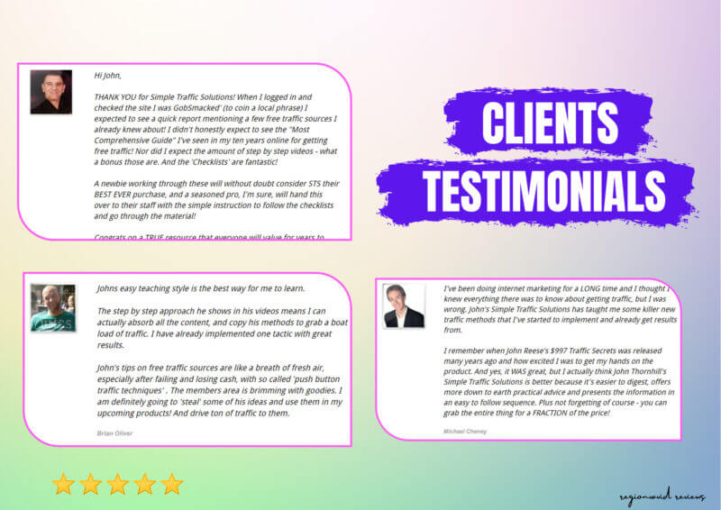 Simple Traffic Solutions Client's Testimonials