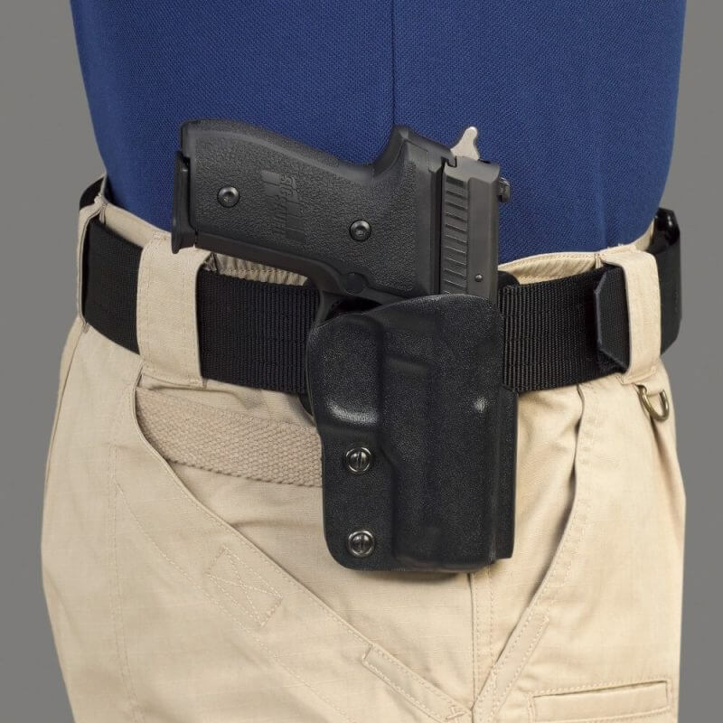 gun on a belt holster