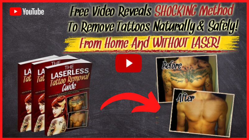 The Laserless Tattoo Removal Guide Home remedy